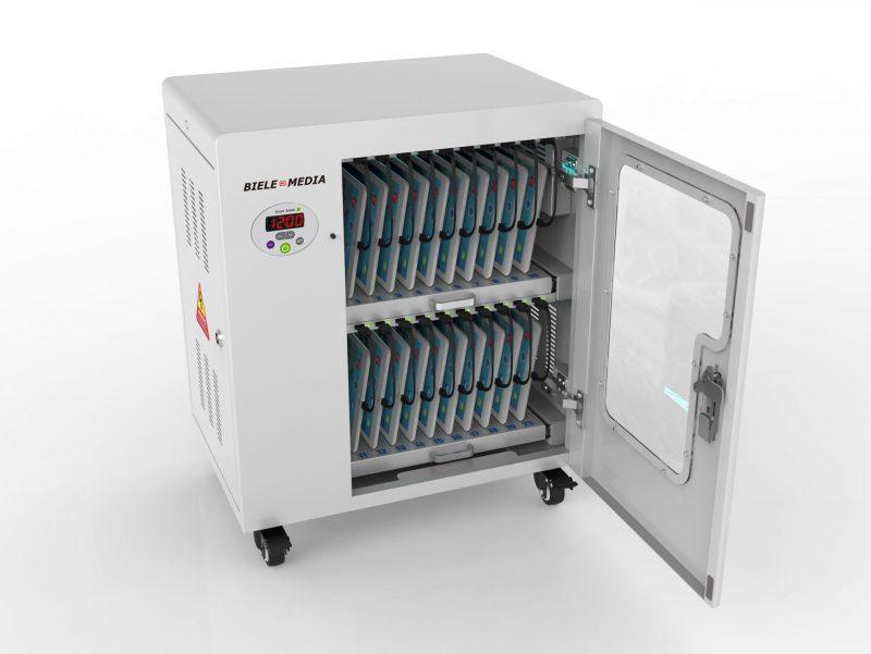 20 Fächer Tablet Ladewagen mit UV-C Desinfektion