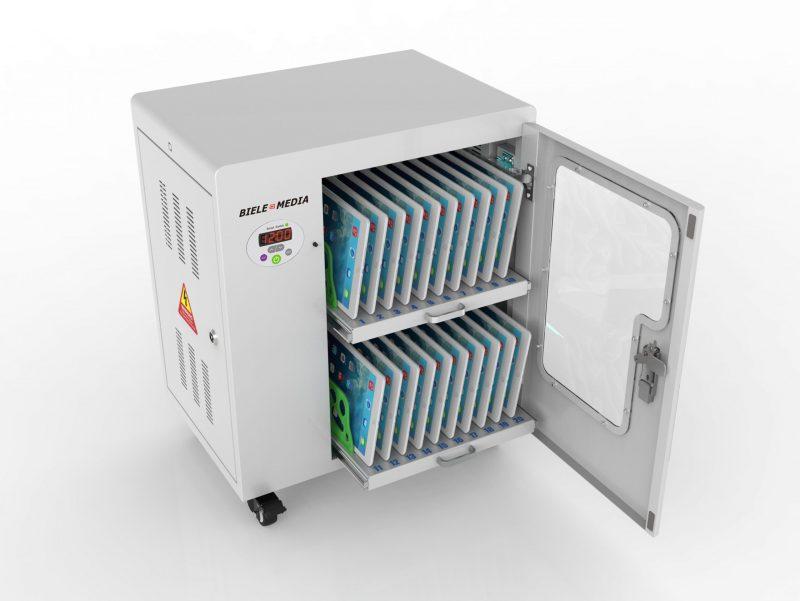Tablet-Ladewagen für bis zu 20 Geräte Mit UVC
