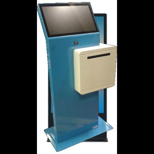 Kiosk InfoTerminal mit DIN A4 Drucker in Quer Breitformat